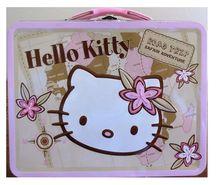 Hello Kitty Square Tin Box - Safari