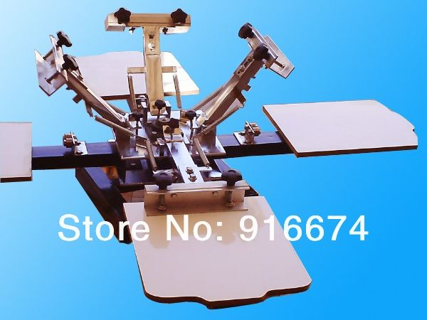 FAST FREE shipping 4 color 4 station silk screen printing machine t-shirt printer press equipment carousel