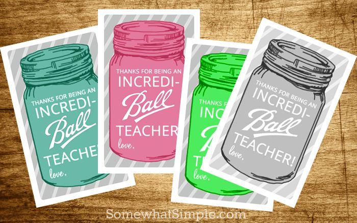 Free Mason Jar Teacher Gift Tags