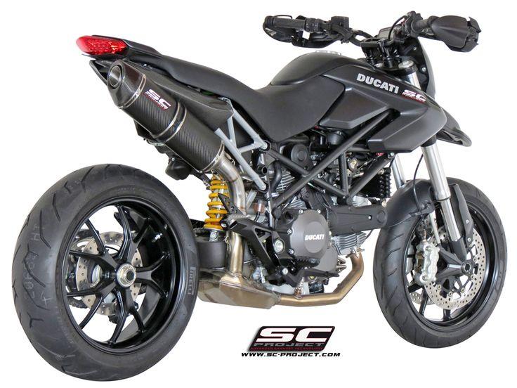Matte Black, Ducati Hypermotard. SC Project.