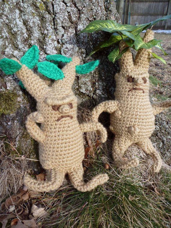 Amigurumi Mandrake : Crochet Pattern: Mandrake and Mini-Mandrake Amigurumi PDF ...