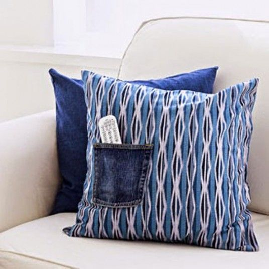 Diy Pillowcase With Pocket: 83 best Quilts   Denim   Pillows images on Pinterest   Cushions    ,