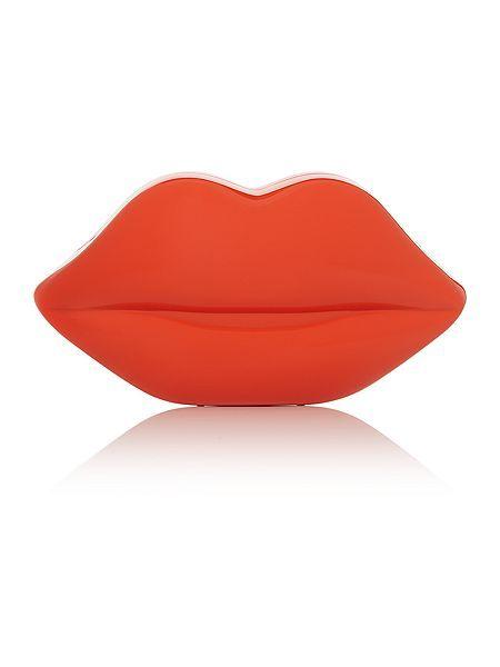 Orange perspex lip clutch