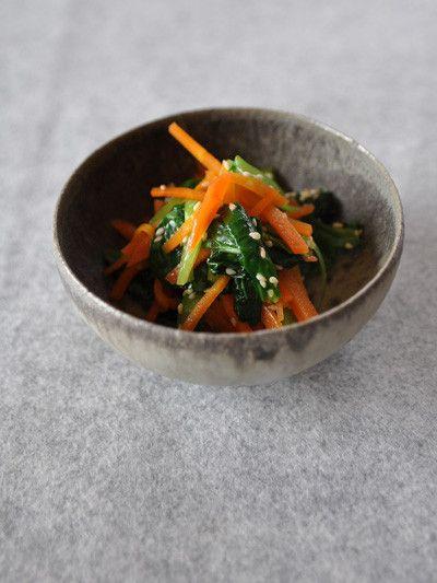 小松菜と人参ナムル by toumon [クックパッド] 簡単おいしいみんなのレシピが226万品