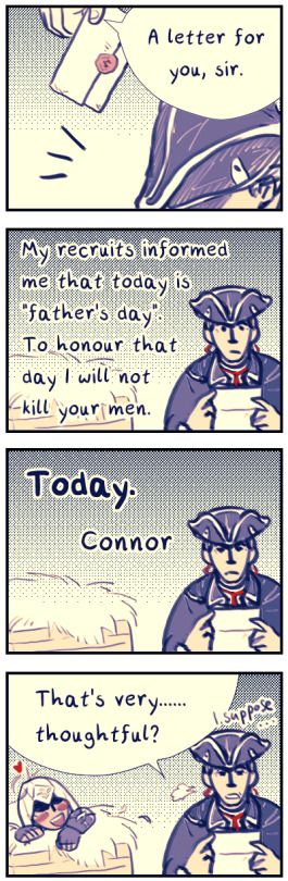 Haha xD. Connor & Haytham Kenway. Assassin's Creed III