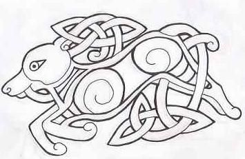 Celtic Wolf Tattoo by ~GreenHeethar