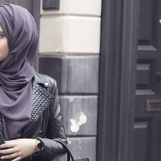 INAYAH | Charcoal Soft Georgette Hijab www.inayahcollection.com