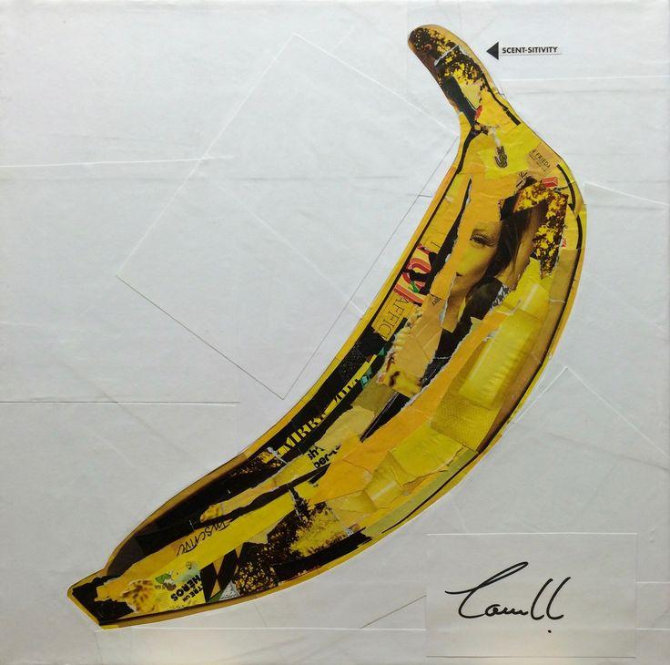 "Artist: Louich! Collage on canvas 2016. ""The Velvet Underground & Nico (Andy Warhol)"" 12 x 12 louichart@gmail.com #collage #thevelvetunderground  #louichart"