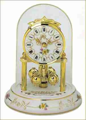 gorgeous wedding anniversary clock with a porcelain base - Anniversary Clock
