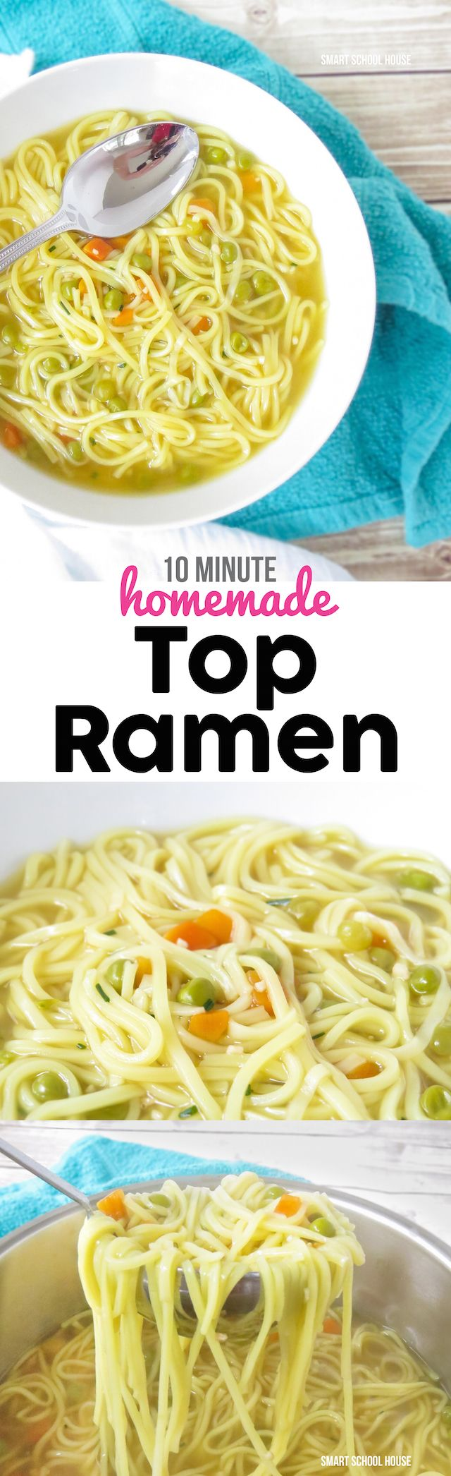 10 minute Homemade Top Ramen soup recipe - I had no idea it was this EASY to make! I couldn't stop eating it......: