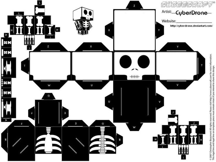 Cubee - Skeleton by CyberDrone.deviantart.com on @deviantART