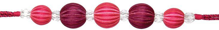 Rolls Curtain Tieback Abacus, Pink