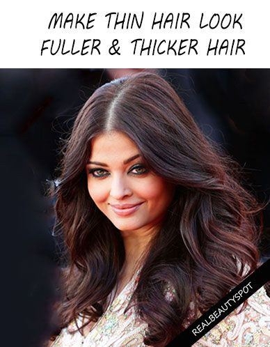 Ways to make thin hair look fuller and thicker ...