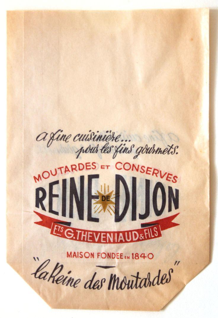 Dijon Moutarde French Paper Bag :: via Becky Baur