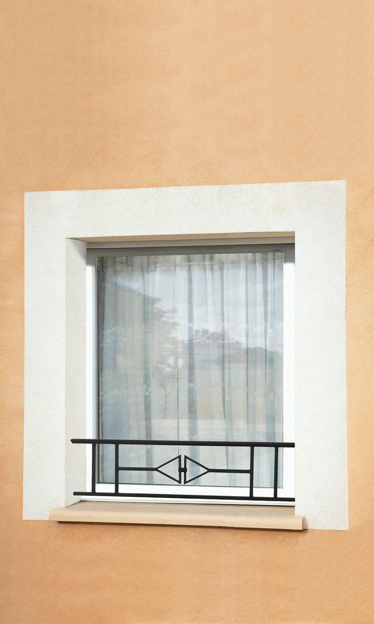 Le Ferronnier - Barre d'appui de fenêtre en fer forgé Vicky | BAVICKY