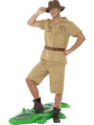 M l #jungle explorer costume crocodile #hunter mens australian fancy dress #outfi, View more on the LINK: http://www.zeppy.io/product/gb/2/381426498185/