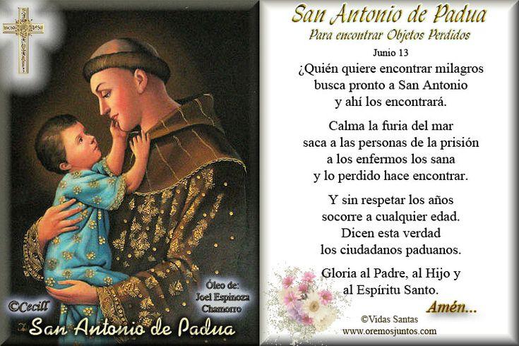 Gifs de oraciones: Oraciones a San Antonio de Padua