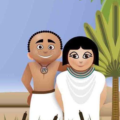 Amon en Amara, een Egyptisch avontuurAmon en Amara. Onderbouw (groep 1-2) en middenbouw (groep 3-4) basisonderwijs. De les sluit aan bij kerndoelen van de leergebieden Nederlands, Oriëntatie op jezelf en de wereld en Kunstzinnige oriëntatie. Klik op de afbeelding voor meer informatie.