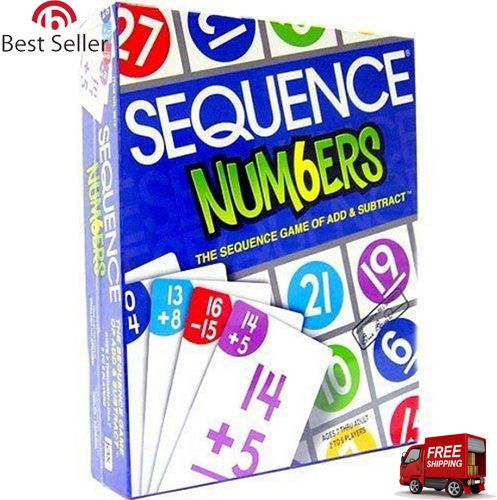 Sequence Classic Strategy Card Board Game Special Edition Numbers Challenge New #Jax