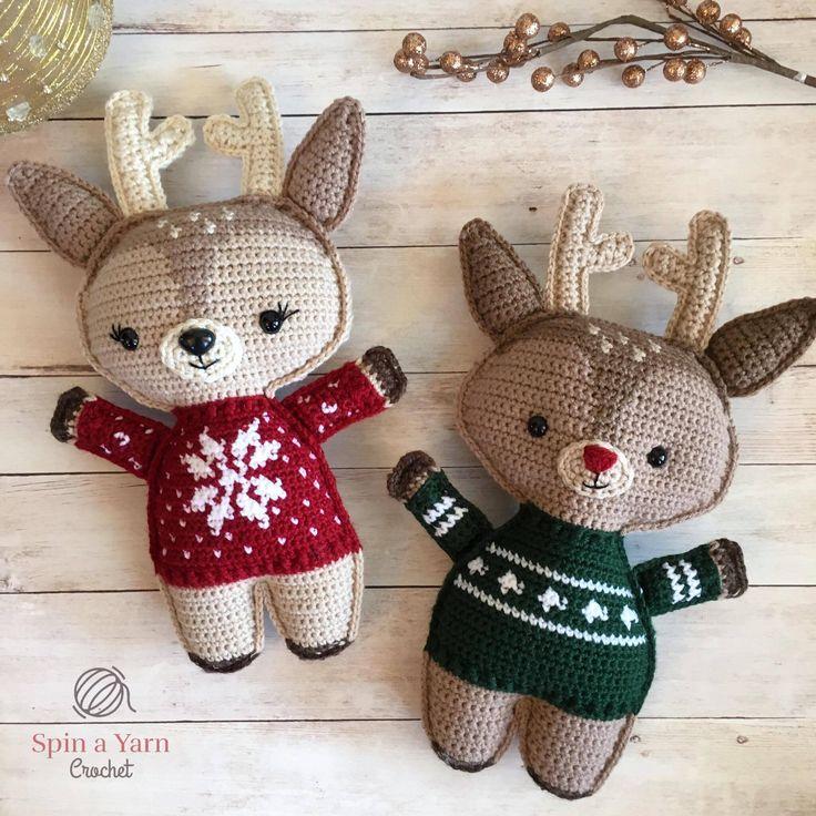 Reindeer wearing sweaters