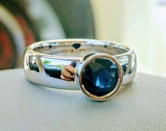 Sapphire engagement ring, white gold sapphire ring, blue engagement ring, special gold ring, sapphire white gold ring, natural sapphire ring