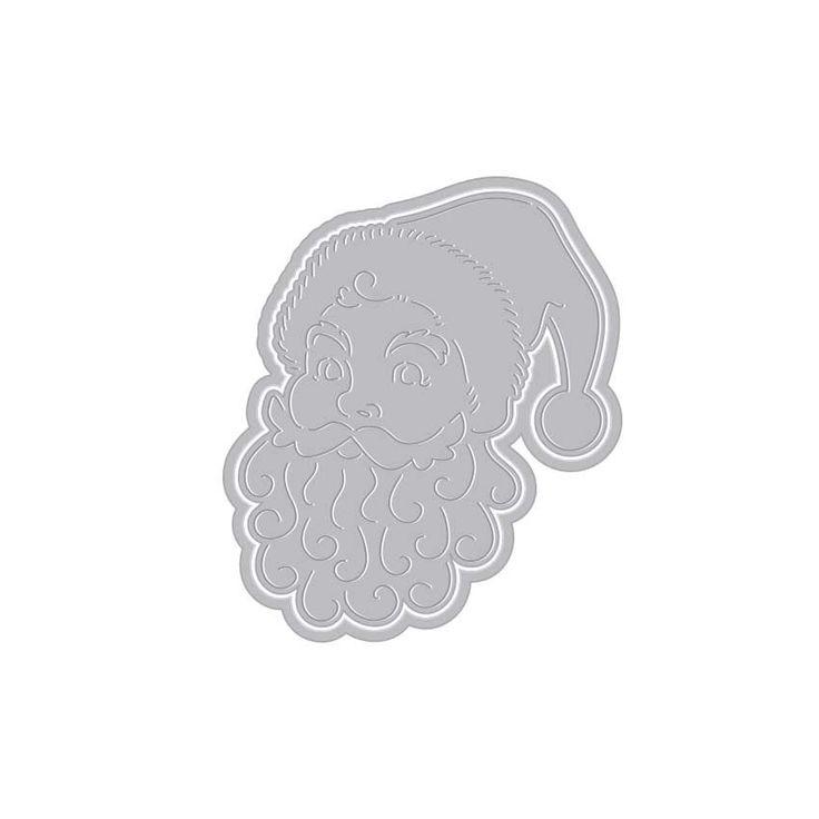 DI195 Paper Layering Santa Face with Frame (D)