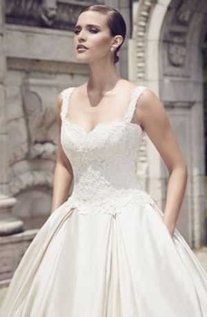 Sweetheart Princess/Ball Gown Wedding Dress  with Natural Waist in Alencon Lace. Bridal Gown Style Number:33047630