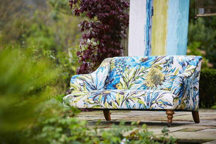 Our Floreale design features painterly overblown peonies, foxgloves and foliage and is perfect for a feature furniture piece.