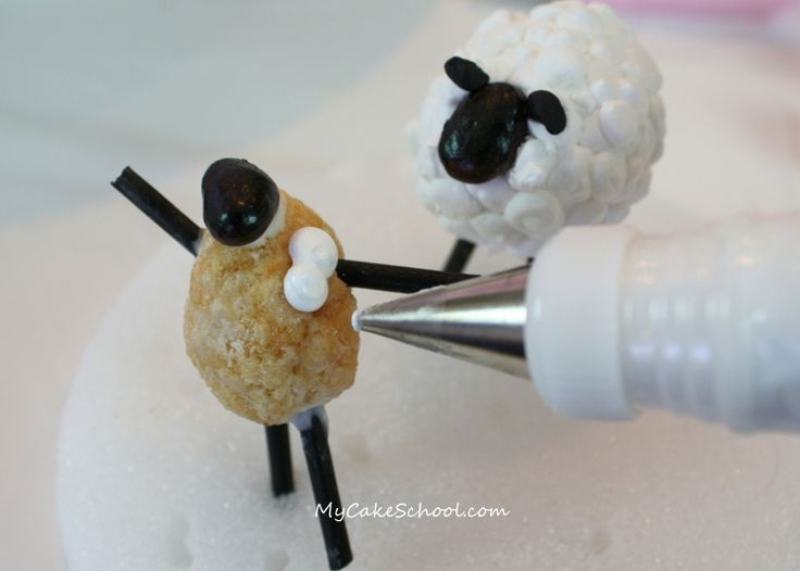 How to make sheep decorations - would be great for a Shaun the Sheep cake.