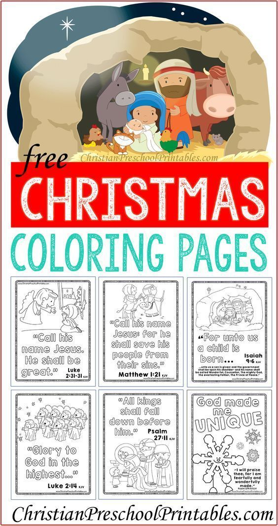 These printable Christmas Coloring Pages with Bible verses are ...