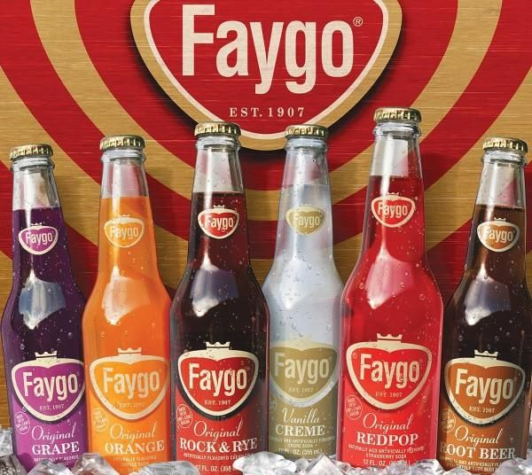 Faygo: Ben & Perry Feigenson founded Feigenson Brothers Bottling Works in 1907 in Detroit, MI.  The name was later changed to Faygo because it was easier to print on a bottle.  The original flavors; fruit punch, strawberry & grape, were based on cake frosting recipes used by the Feigensons at their bakery in Russia.