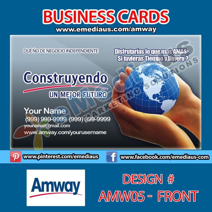Amway Business Card Template Bilder+28 >> Amway Business Cards ...