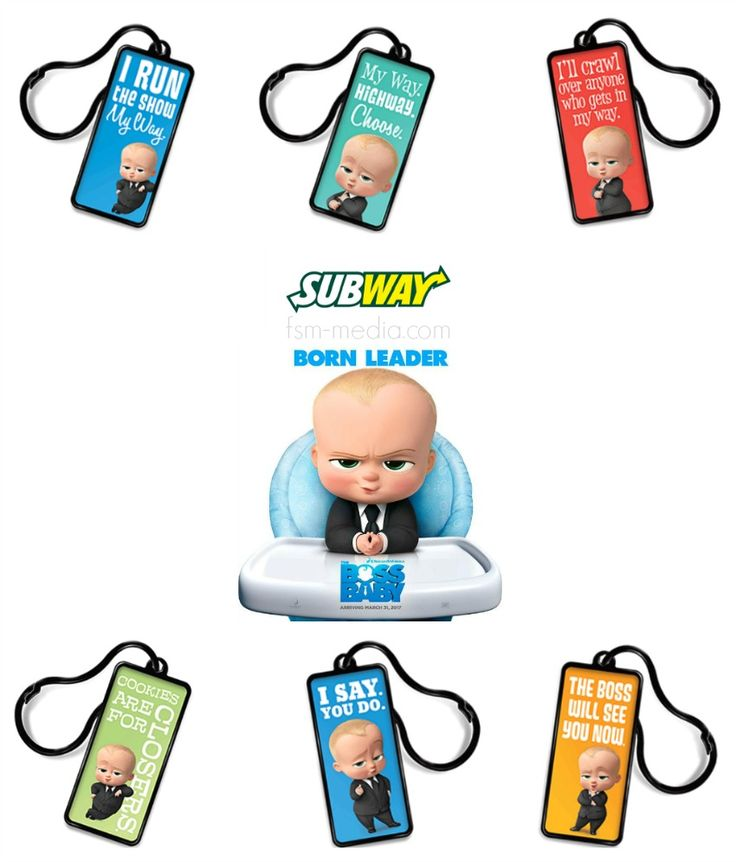 FREE Boss Baby Backpack Tags at Subway with Kids Meal Purchase