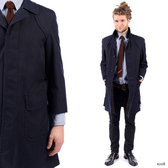 Mens Navy Trench Coat | its a mens world | Pinterest | Navy trench ...