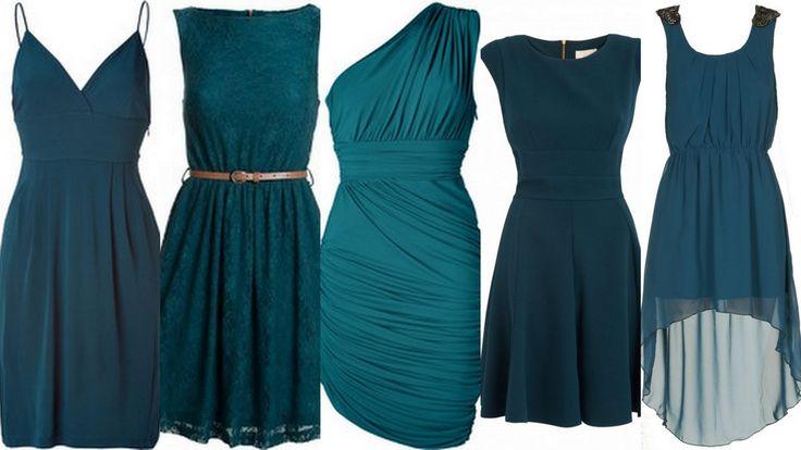bridesmaid+dress+teal | Teal-Peacock Bridesmaid Dresses: Wedding Inspiration & Ideas