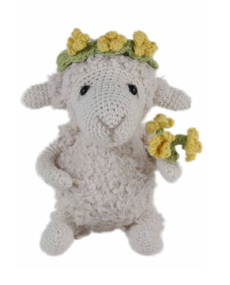 Go Handmade Helene the Sheep amigurumi crochet kit pattern #crochet #gift #cute #animal #craft