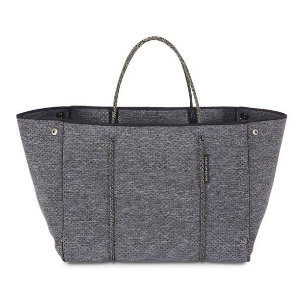 ESCAPE bag in LUXE charcoal marle. The originators and creators of the perforated neoprene Escape carryall bag. 100% designed and handcrafted in Australia.