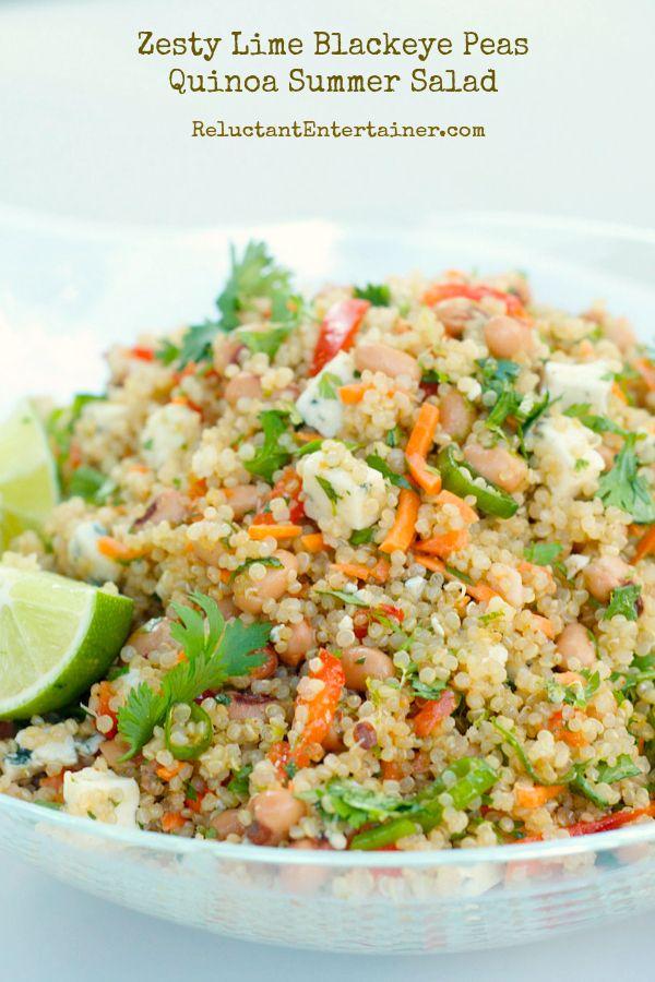 Zesty Lime Blackeye Peas Quinoa Summer Salad
