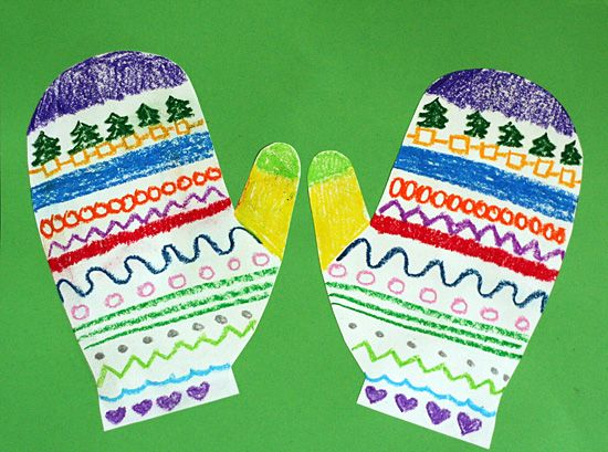 silly symmetrical mitten art