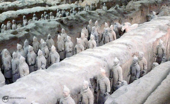 A bunch of terracotta warriors from up close...