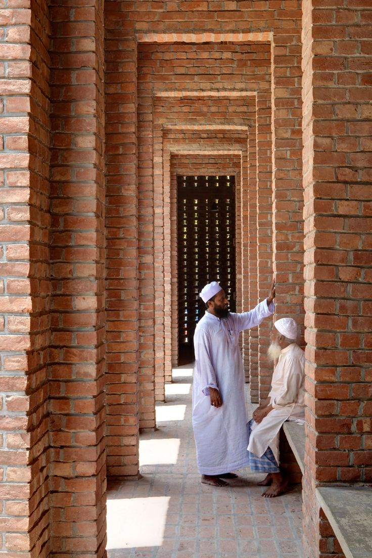 Daylight filters in through the roof and walls of Bangladeshi mosque by Marina Tabassum
