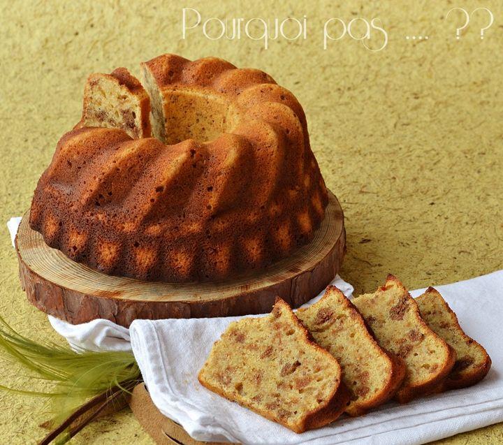 Pourquoi pas .... ??: Cake spéculoos / chocolat blanc