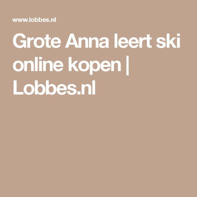 Grote Anna leert ski online kopen | Lobbes.nl