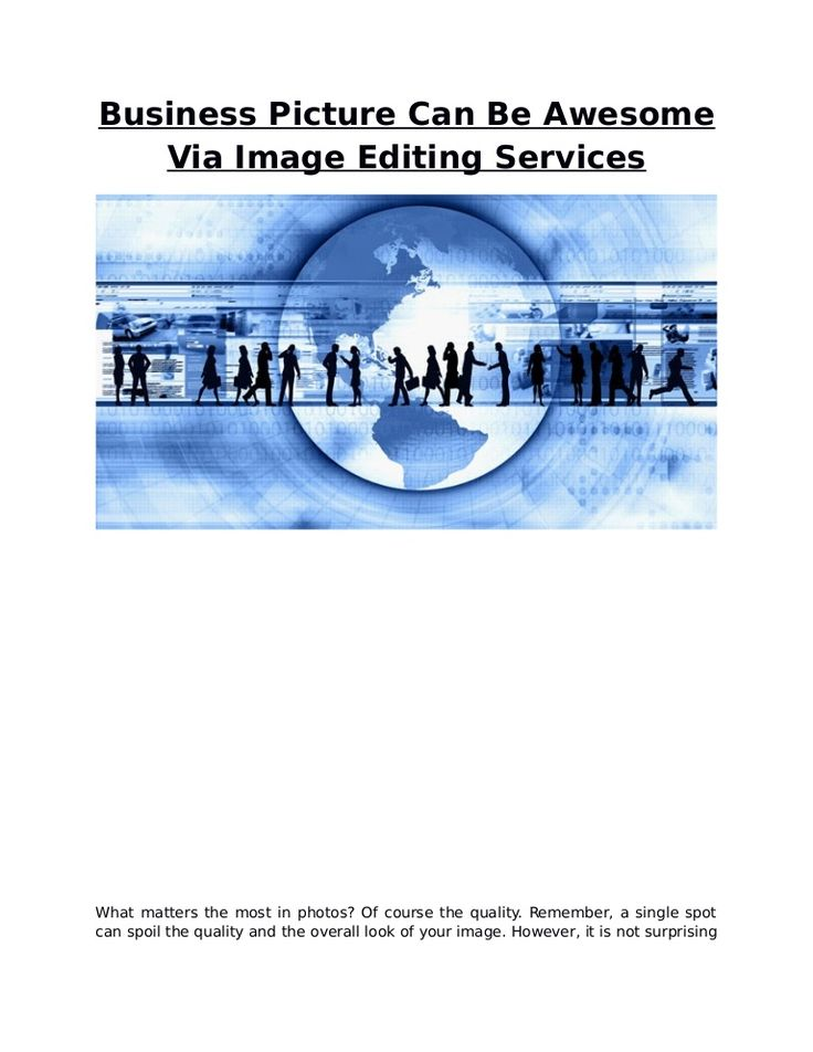 The same thing relates to the outsourcing image editing companies specializing in various image editing jobs.