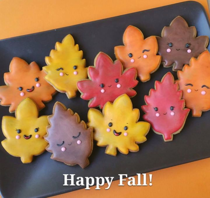 cute leaf cookies