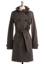 SherlockRuffles Trench, Detective Clothing, Closets, Fall Coats, Http Www Modcloth Com, Long Coats, Sherlock Coats, Trench Coats, Coats Modcloth