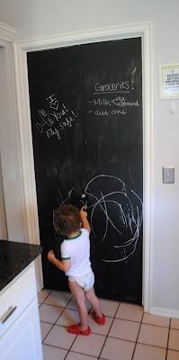 DIY Chalkboard Pantry Door