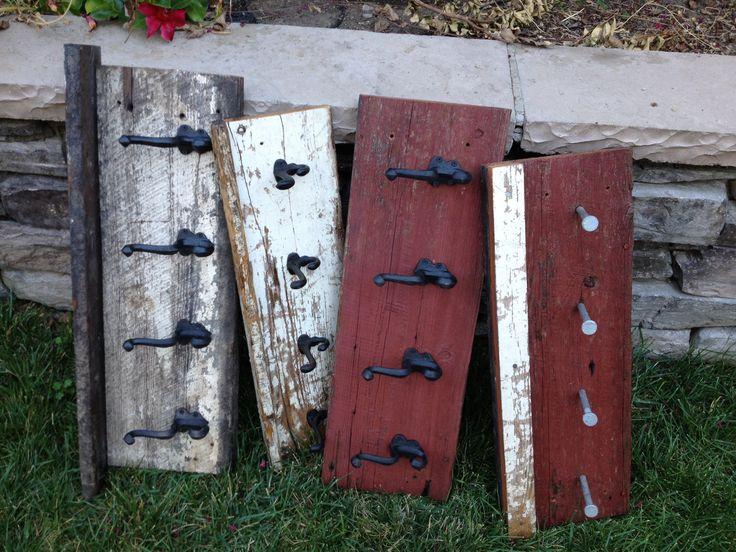 Barn wood coat racks!