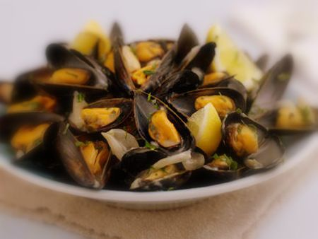 Steamed mussels and Mussels on Pinterest