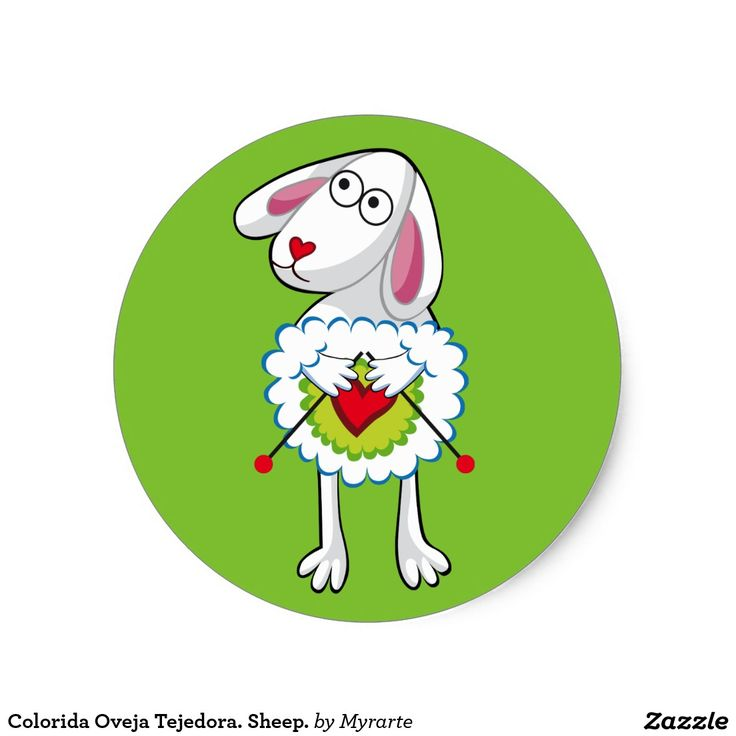 Colorida Oveja Tejedora. Sheep. Producto disponible en tienda Zazzle. Product available in Zazzle store. Regalos, Gifts. Link to product: http://www.zazzle.com/colorida_oveja_tejedora_sheep_classic_round_sticker-217175050221486998?CMPN=shareicon&lang=en&social=true&rf=238167879144476949 #sticker #oveja #sheep